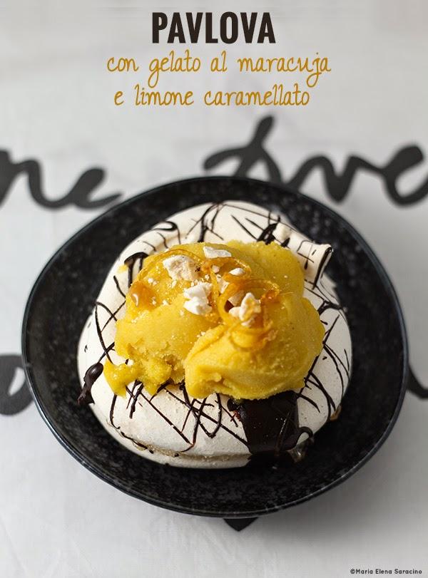Se questo è un uovo - Pavlova con gelato al maracuja
