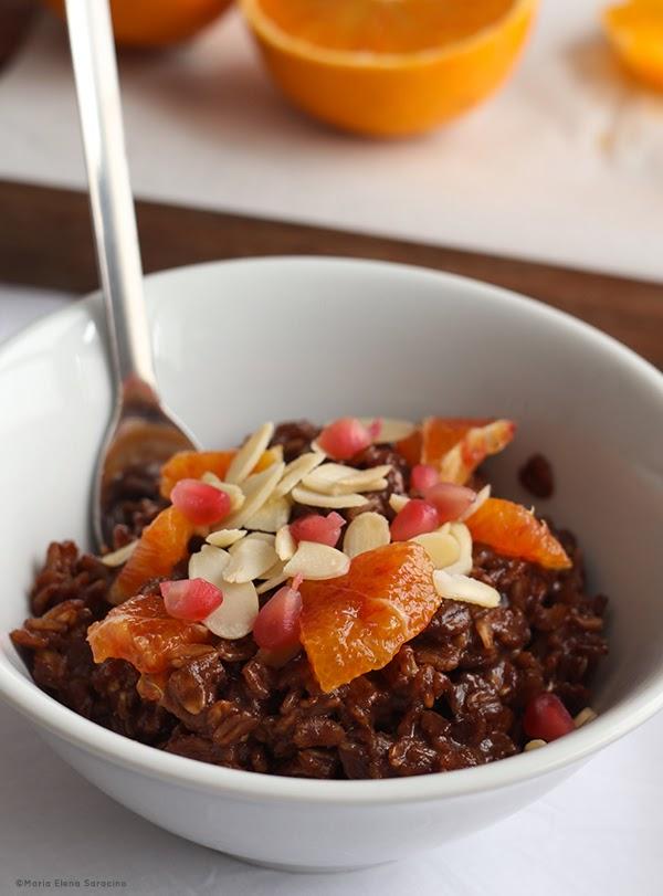 Se questo è un uovo - Porridge al cacao e arance