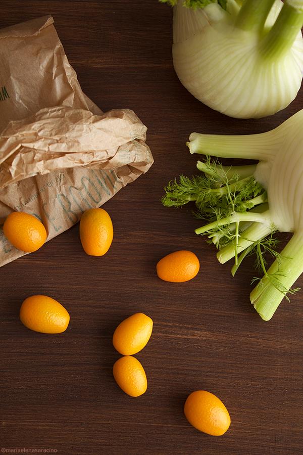 Ingredienti insalata di finocchi con mandarini cinesi