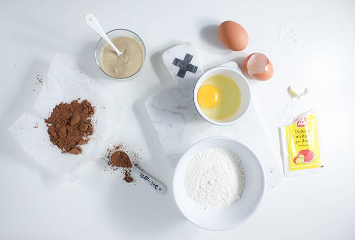 Ingredienti per la ciambella senza burro.