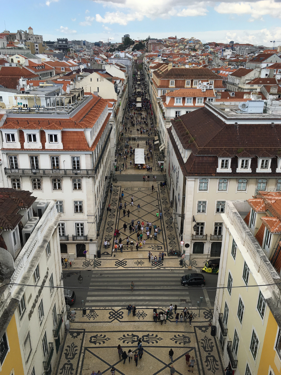 Lisbona dall'alto.