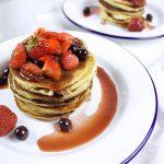 Ricotta pancakes con frutti di bosco