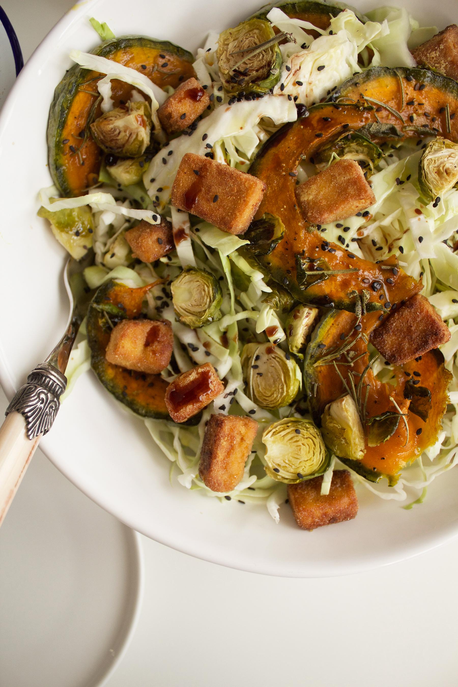 L'insalata è pronta per essere servita