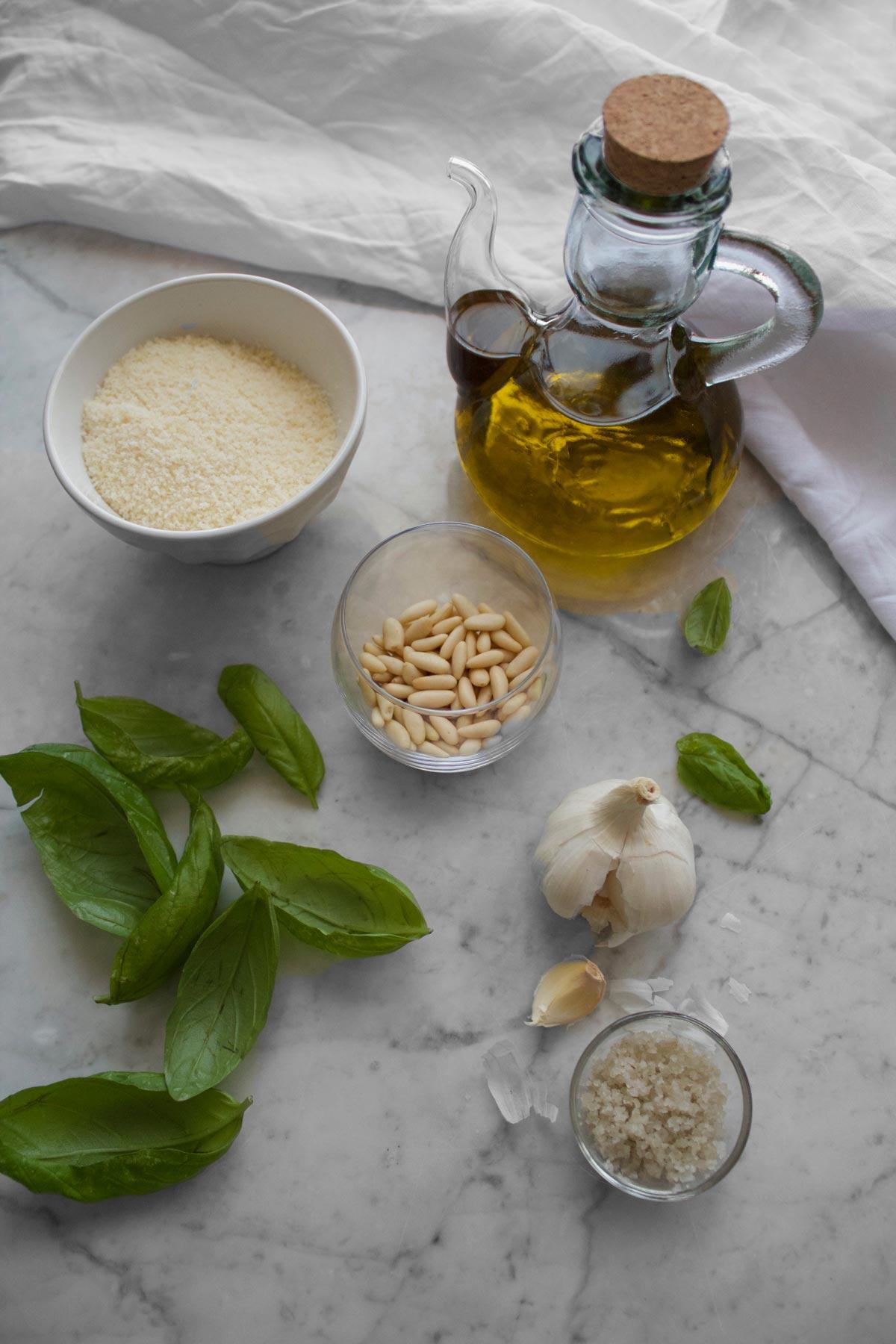 Ingredienti per il pesto